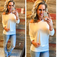 Soft White Dolman Top