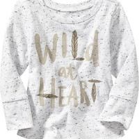 Old Navy Long Sleeve Graphic Tees For Baby