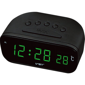 Digital LED Desktop Clock Vintage Clock Thermometer Display Table Clocks with AC Power Red Green Blue Color