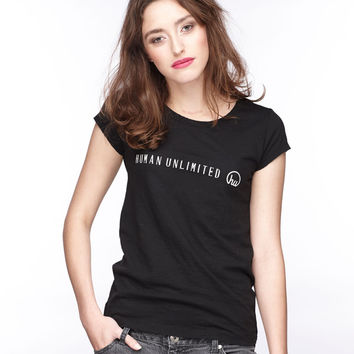 Women's Black Human Unlimited Shirt