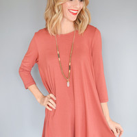 Sweet Honey Cutout Dress Brick