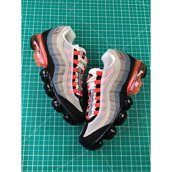 Nike Air Vapormax 95 Og Grey Red Sport Running Shoes 40-45