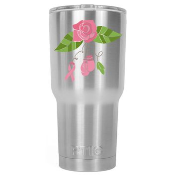 RTIC Floral Cancer 30 oz Tumbler Cup