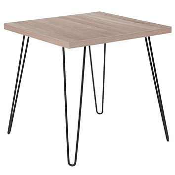Union Square Collection Wood Grain Finish End Table with Metal Legs