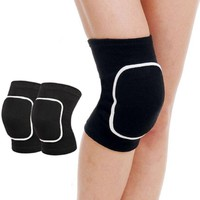1 Pair Crossfit Knee Pads Fitness Leg Support Protector Volleyball Basketball Breathable Sports Padding Wraps