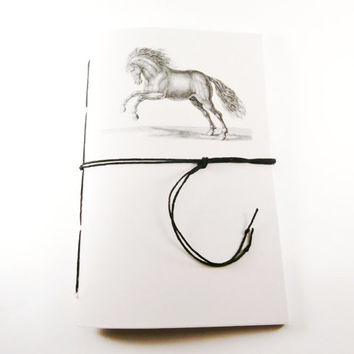 Horse Journal | Ruled Notebook | Animal Notebook | Horse Notebook | Handbound Diary | Cute Notebook | Writing Journal | Lined Notebook