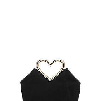 Kate Spade Secret Admirer Heart Handle Bag Black ONE