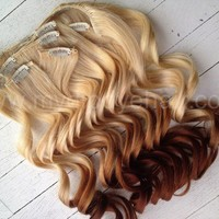 Ombre Hair Extensions/DipDye/Reverse Ombre/Blonde/Cooper/Dip Dye