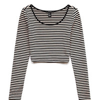 Seaside Striped Crop Top
