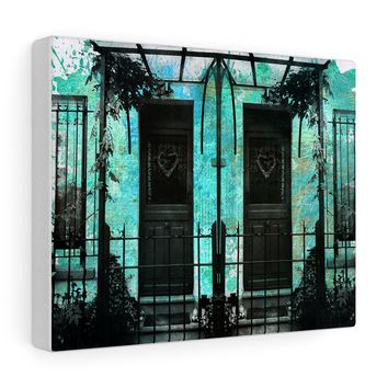 'Parisian Hearts' Art Canvas Wrap by Louisa Catharine