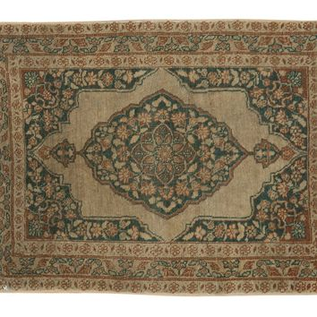 2x2.5 Antique Jalili Tabriz Square Rug Mat