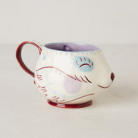 Handpainted Fox Mug