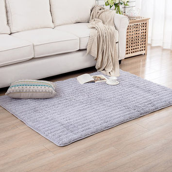 Floor Mats; Shag Area Rugs; Living Room Carpet; Bedroom Rug for Children Play Solid Home Decorator Floor Rug and Carpets