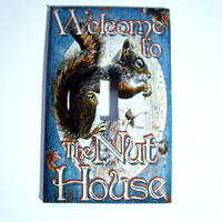Light Switch Cover - Light Switch Plate Funny Squirrel Nut House