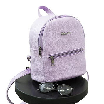 brands Backpack Candy color small backpack for teenagers girls high quality ladies famous designer travel bag 6 color optional