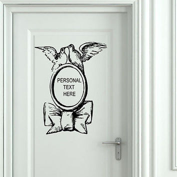 Wall Mural Vinyl Decal Sticker Sign Door Frame Personalized Text Name AL288