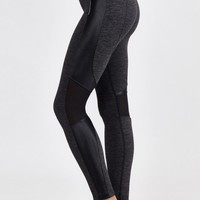 Syndicate Cropped Legging in Dark Heather/Black by Koral | New Arrivals | BANDIER