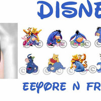 Nail Art Decal Disney Eeyore n Friends Pooh Transfer Set of 40 Images Adult Kid Sz