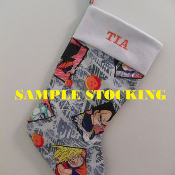 Dragon Ball Z Christmas Stocking, DBZ Christmas Stocking