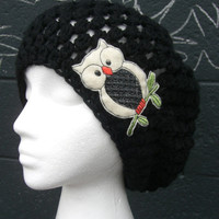 The Irie Owl wears Black by dahliasoleil on Etsy