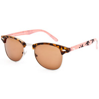 Full Tilt Tortoise Palm Club Sunglasses Tortoise One Size For Women 25652440101