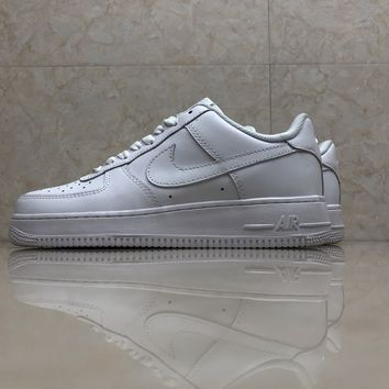 KUYOUNike Air Force 1 all-white underside 315122-111 sneaker