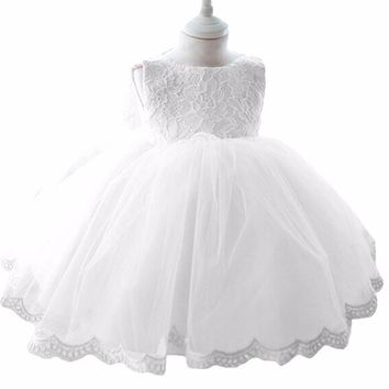 2017 New sweet Princess Girls Party Dresses for party baby fashion Pink Tutu dress Girls Wedding kids Dress 18M 2T 3T 4T 5T 6T