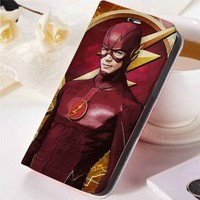 Flash Superheroes | movie | flash | custom wallet case for iphone 4/4s 5 5s 5c 6 6plus case and samsung galaxy s3 s4 s5 s6 case