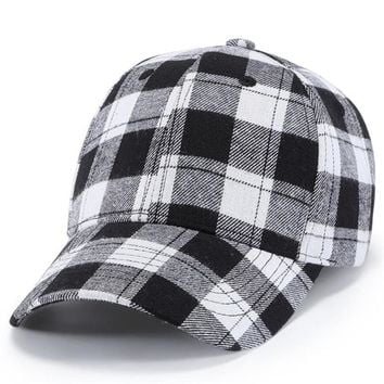 Trendy Winter Jacket 2018 Summer New Fashion Men Women Baseball plaid Printed Stars Cap Snapback Hat Hip-Hop Adjustable bts baseball caps AT_92_12