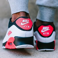NIKE AIR MAX 90 fashion casual shoes Black Red