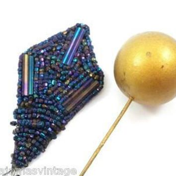Antique Victorian Hat Pins Carnival Beads