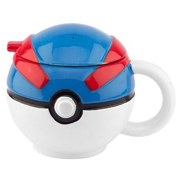OFFICIAL Pokemon GO Great Ball PREMIUM Ceramic Coffee Mug GIFT with Lid