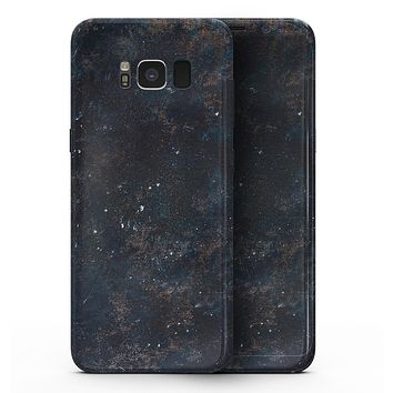 Blue and Gold Grunge Splatter - Samsung Galaxy S8 Full-Body Skin Kit