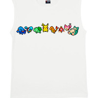 Pixel Pokemon Cropped Tank Top