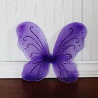 Purple Fairy Butterfly Wings Newborn Baby Toddler Photo Prop