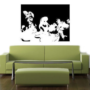 Wall MURAL Vinyl Decal Sticker ALICE IN WONDERLAND