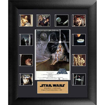 Star Wars A New Hope Mini Montage Series 1 LE Framed Film Cell