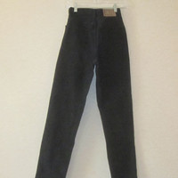 High Waisted Black Jeans.Vintage Black Jeans, Mom Jeans, DKNY Jeans, Very High Waist 27, Womens Teens Size 4 Hipster Grunge, Black Denim