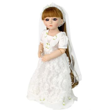 Right Away 48CM Princesses American  Doll in White Wedding Dress