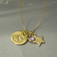 Mothers Necklace / Birthstone Necklace / Birthstone Jewelry / Mom Necklace / Initial Necklace / Grandmother necklace / Mother's necklace