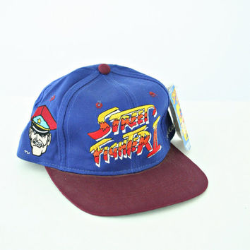 vintage 90s STREET FIGHTER II snapback hat
