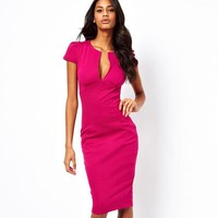 Women's Summer Dresses Bodycon Slim Business Sheath Party Dress