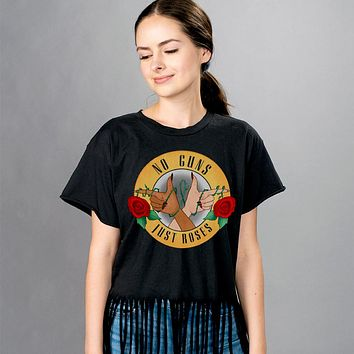 No Guns Just Roses Fringe Shirt