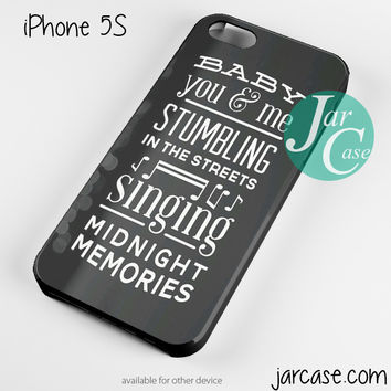 One Direction Lyrics Midnight Memories Phone case for iPhone 4/4s/5/5c/5s/6/6 plus