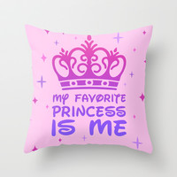 My Favorite Princess Throw Pillow by LookHUMAN