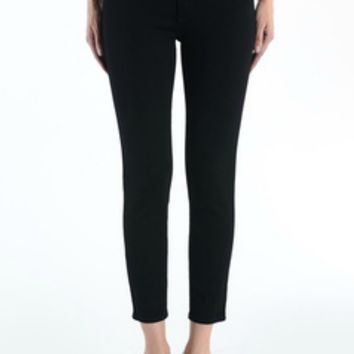 Mid Rise Cropped Super Skinny in Black