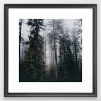 Into the forest we go Framed Art Print by happymelvin