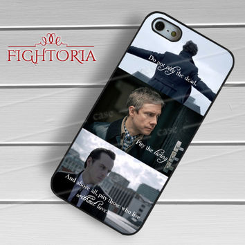 Sherlock Holmes Watson And Moriarty Quote -srrd for iPhone 6S case, iPhone 5s case, iPhone 6 case, iPhone 4S, Samsung S6 Edge