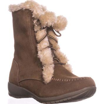 Sporto Maggie Lined Winter Boots, Chestnut, 9.5 US