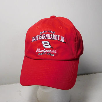 Dale Earnhardt Jr Hat Number 8 Budweiser Vintage Never Worn Slide Adjustable Cap Nascar